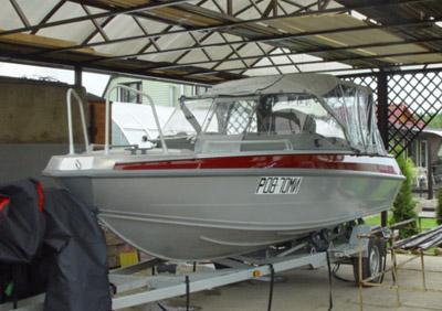 детали управления лодки