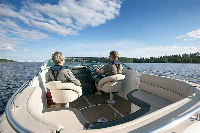 Лодки со стационарным двигателем