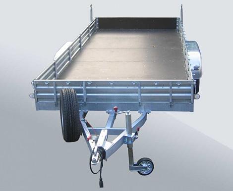 Двухосный прицеп с инерционной тормозной системой МЗСА 832164.202